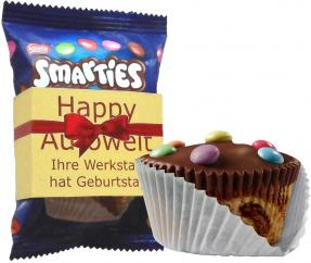 Smarties Muffin 30g mit individueller Banderole