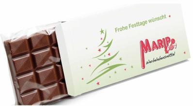 Werbeschokoladentafel individuell bedruckt mit Logo, 100g