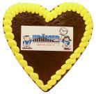 Lebkuchenherz mit Logo, 14 x 12cm, 80g
