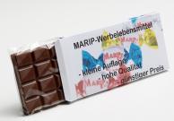 100g Schokolade mit Logo oder Text auf einer Faltschachtel